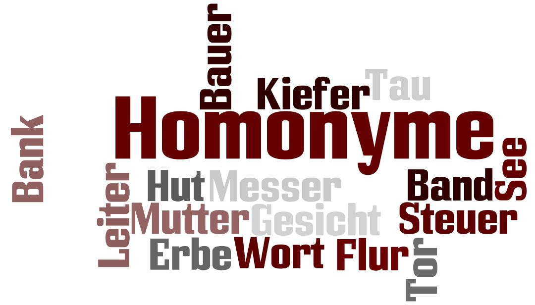 Homonimy w języku niemieckim