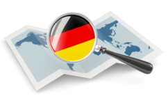 germany_magnified_flag_with_map_256